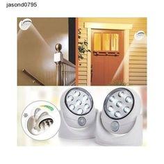 Motion Safety Wireless Sensor 7 LED Light - 360 Degree Rotation-Indoor/Outdoor