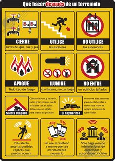 Que hacer en caso de terremoto