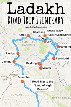 Travel Destinations In India, India Travel Guide, Travel Tours, Travel Maps, Asia Travel, Srinagar, Agra, Road Trip Playlist, Road Trip Map