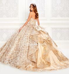 Pageant Dresses, Quinceanera Dresses, 15 Dresses, Ball Dresses, Sparkly Dresses, Pretty Dresses, Gold Wedding Gowns, Wedding Dresses, Quinceanera Collection