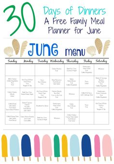 Budget meal planning 414471971941967211 - June Meal Plan for Families (& Free Printable) – The Chirping Moms Source by DefinitelyDaisy Monthly Meal Planning, Family Meal Planning, Meal Planning Printable, Summer Meal Planning, Weekly Meal Planner, Weekly Meal Plan Family, Meal Prep Plans, Diet Meal Plans, Meal Calendar