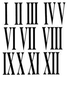 Números reloj de pared