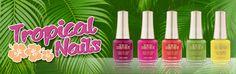 El Espejo de la BELLEZA: Tropical Nails de Cazcarra Ten Image...Los esmalte...