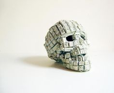 Keyboard Skull Art... nice.
