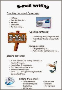 How to Write an Email in English English Tips, English Words, English Lessons, English Grammar, Learn English, English Phrases, English English, English Online, English Posters