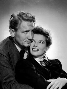 Spencer Tracey and Katherine Hepburn