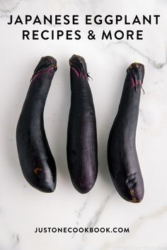 Called Nasu, Japanese eggplant is long, slender, and oblong and have dark purple skin. It's great deep-fried, stir-fried, roasted, or grilled. Learn more about this eggplant today! #japanesrecipes #eggplant #eggplantrecipes   Easy Japanese Recipes at JustOneCookbook.com Japanese Eggplant Recipes, Chinese Eggplant, Easy Japanese Recipes, Japanese Food, Japanese Things, Healthy Dishes, Healthy Eating, Aubergine Recipe, Grilled Eggplant