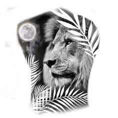 Lion Head Tattoos, Tiger Tattoo, Lion Tattoo, Cat Tattoo, Rose Drawing Tattoo, Tattoo Design Drawings, Dragon Sleeve Tattoos, Best Sleeve Tattoos, Ozzy Tattoo