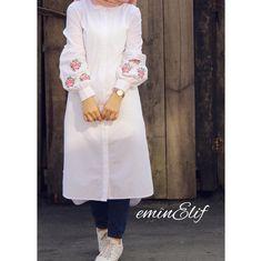 55 Ideas For Style Hijab Kemeja Putih Abaya Fashion, Muslim Fashion, Modest Fashion, Trendy Fashion, Fashion Dresses, Trendy Style, Casual Hijab Outfit, Hijab Chic, Hijab Dress