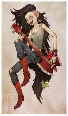 Marceline the Vampire Queen by yvash.deviantart.com on @DeviantArt
