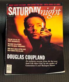 Saturday Night Magazine - Douglas Coupland Cover - March 1994 Douglas Coupland, John Fluevog, Saturday Night, New Books, March, Magazine, Cover, Warehouse, Blankets