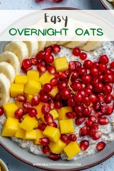 Overnight Oatmeal Recipe - Healthy Fitness Meals