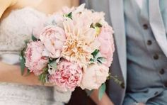 Bouquet da sposa 2015 - Bouquet peonie e dalie