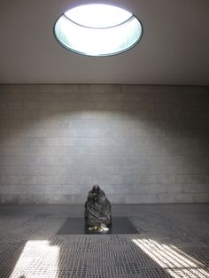 """Käthe Kollwitz sculpture """"Mother with her Dead Son"""" to commemorate victims of war. Photo by JMBell, October ★ Kathe Kollwitz, Berlin, October, Museum, War, Sculpture, Spaces, Interior, Monuments"""