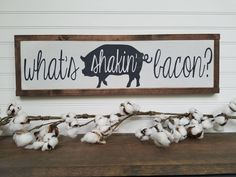 Bacon Sign - Wood Sign - Wooden Sign - Farmhouse Style - Kitchen Sign - Farmhouse Sign - Rustic Sign - Farmhouse - Country Decor by packratshandmade on Etsy