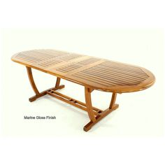Shop All Things Cedar In X In Natural Oil TeakFrame - Oval teak outdoor dining table