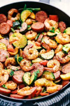 Cajun Shrimp and Sausage Vegetable Skillet 3