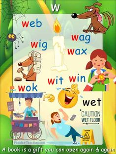 w cvc words - FREE Printable Phonics Poster - You Need to Have This :-) Phonics Reading, Reading Games, Reading Lessons, Spelling Words, Cvc Words, Phonics Sounds, Word Poster, Sight Word Games, Word Free