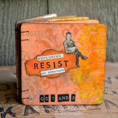 Paxton Valley Folk Art: Resist Techniques Coaster Book For A Vintage Journey