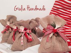 Christmas packaging handmade Rope  Bow Cinnamon Jute Cannella Fiocco Iuta