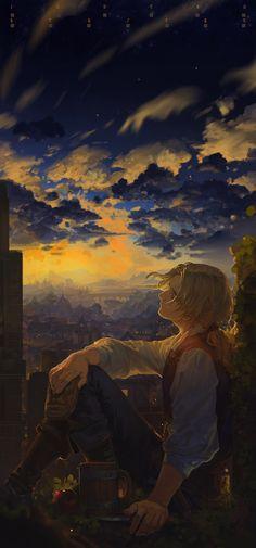 Sunset | hunsay [pixiv]