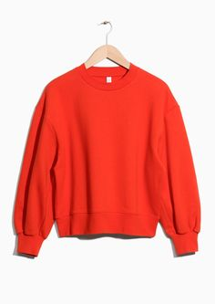 & Other Stories image 1 of Boxy Sweatshirt in Red