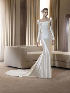 Simple and elegant wedding dress by francine