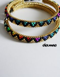 Gold+Rainbow+Arrows+Native+American+Hoop+Earrings+by+eleumne,+$55.00