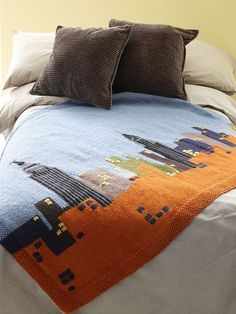 NYC skyline blanket -- but I want to adjust for Philly!