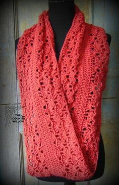 Rouge Infinity Scarf pattern by Country Willow Designs – Crochet & Knitting Crochet Winter, Knit Or Crochet, Crochet Scarves, Crochet Shawl, Crochet Crafts, Crochet Clothes, Crochet Projects, Free Crochet, Diy Crafts