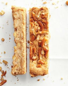 Pretzel-Shortbread Bars -- drizzle with chocolate or caramel