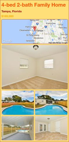 4-bed 2-bath Family Home in Tampa, Florida ►$169,000 #PropertyForSale #RealEstate #Florida http://florida-magic.com/properties/89404-family-home-for-sale-in-tampa-florida-with-4-bedroom-2-bathroom