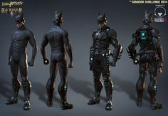 Just thought I'd share my entry for Comicon Challenge 2014 over on Gameartisans. I chose to do Batman as an older version with a new scifi suit. Nightwing, Batgirl, Catwoman, Dc Comics, Anime Comics, Game Character Design, 3d Character, Zbrush, Batman Redesign