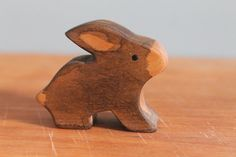 Waldorf Rabbit / Bunny / Wooden Animal by GingerForestToys on Etsy, $7.00