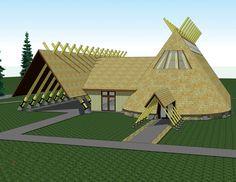 Nez Perce wood long houses | Image courtesy of RGU Architecture & Planning [enlarge]