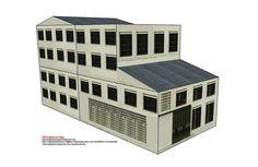 Combine the different paper models to build an industrial hub layoutComo en entregas anteriores, se incluyen 6 escalas por lo que en 1 único fichero os descargáis gratis 18 edificios de fábricas.   Ya sabéis que las fachadas son modulares y que combinadas con los 3 tipos de edificios podéis realizar innumerables combinaciones.