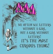 Delta Delta Delta Alice in Wonderland themed design! A girl without letters is the most curious thing!