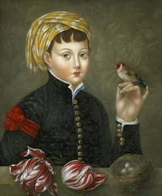 """The Naturalist"" 24×20 inches, oil on canvas over panel by Fatima Ronquillo"