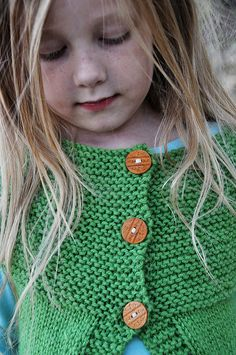 wooden buttons, kid sweater