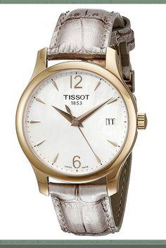 Tissot Women's T0632103711700 Tradition Analog Display Swiss Quartz Grey Watch Price: $375.00 & FREE Shipping #TissotWatch #LadiesWatch #GoldWatch #jewelry #WomensFashion