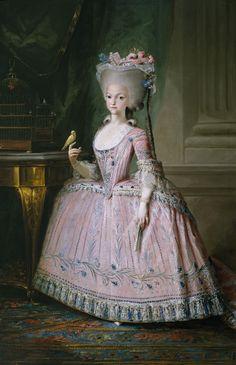 Carlota Joaquina, Infanta de Espanha (1775-1830) -futura Princesa de Brasil y de Beira-; Filha primogénita do rei da Espanha, Carlos 4° e de D. Maria Luísa Teresa de Bourbon, Carlota Joaquina nasceu em Aranjuez, a 25 de abril de 1775. Com apenas dez anos, casou-se por procuração com o príncipe de Portugal D. João, em um acordo de aliança entre os dois países. Após a morte de seu irmão primogénito D. José, D. João tornou-se príncipe regente e depois rei de Portugal, com o nome de D. João 6°.