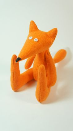 Orange felted fox soft animal toy FREE SHIPPING by Lapintrou