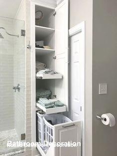 Diy Bathroom Decor, Bathroom Renos, Bathroom Organization, Bathroom Cabinets, Remodel Bathroom, Bathroom Mirrors, Bathroom Designs, Bathroom Closet, Simple Bathroom