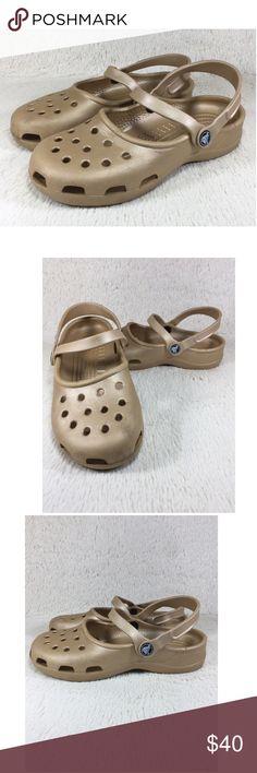 2d733e0f72e83 Crocs Sandals Shoes Clogs Mules Womens Gold Size 7 Crocs Sandals Shoes  Clogs Mules Mary Jane