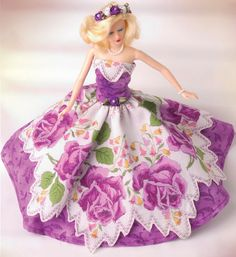 Hankie Couture Boutique ~ Hankie Couture is a stunningly original collection of doll-size fashions, each one meticulously handcrafted from a single vintage handkerchief. No two are alike!