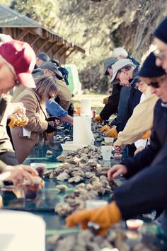 Oyster roasts in Charleston. The perfect get together in the cold months.