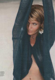 """Semplicita"", Marie Claire Italia, Helena Crhristensen, December 1994 ..."