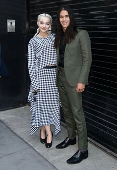 Dove Cameron and Booboo Stewart at Apple Soho in New York City.