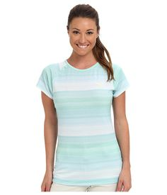 PUMA Golf Golf Novelty Stripe Top Aqua Splash - 6pm.com