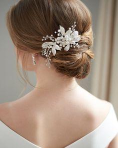 Splendido TIARE su pettine RUSSO Cuore Fiore-Matrimoni sposa Prom Diadema